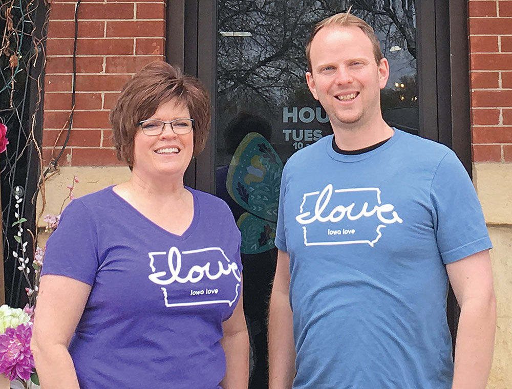 Iowa Love T-shirts and The Rustic Corner support fairgrounds tornado recovery