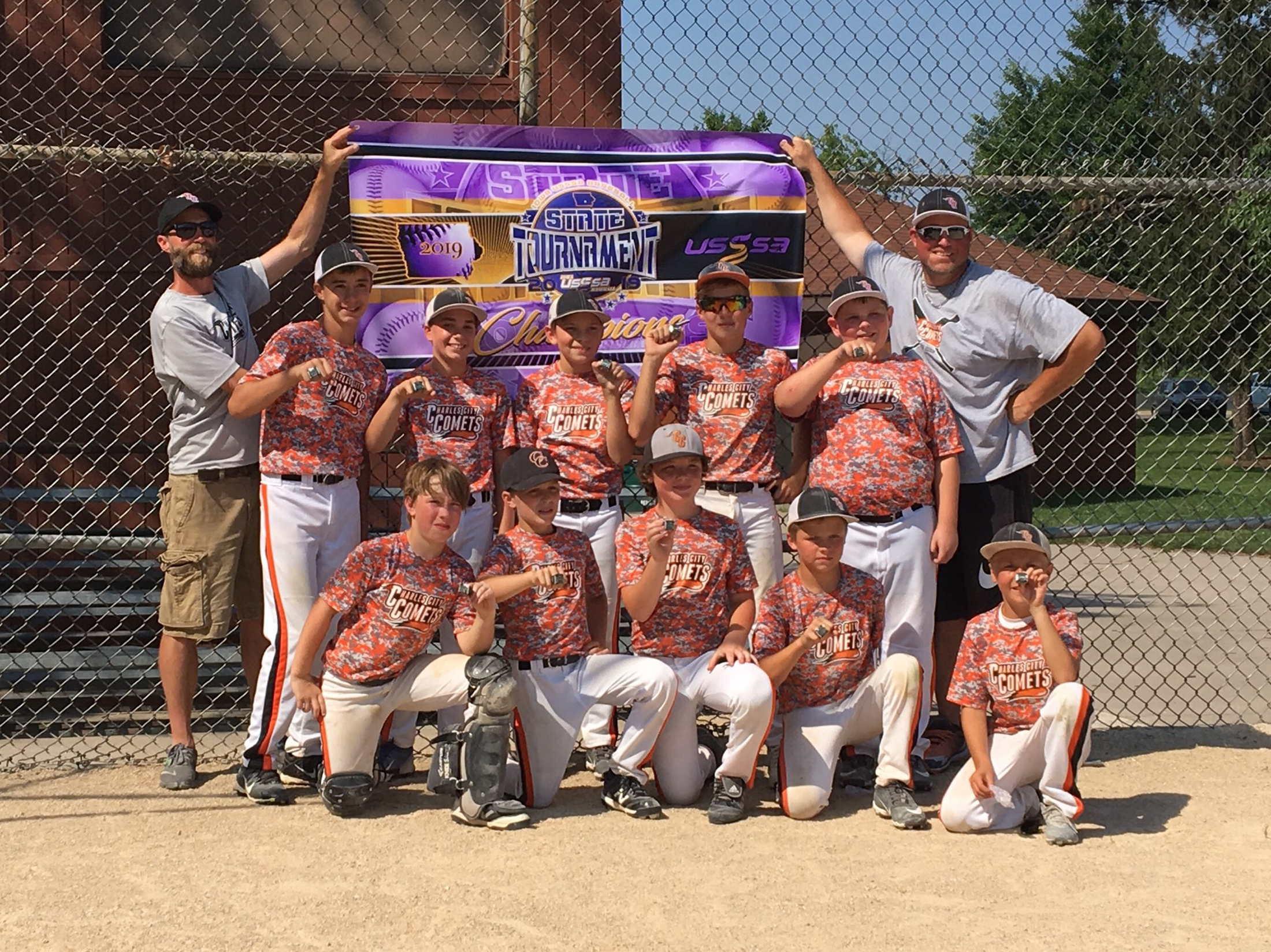 Charles City 11U baseball team wins USSSA state title