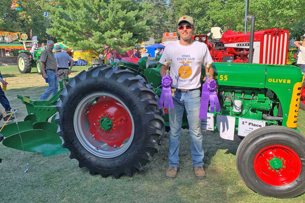 N-P FFA member claims top prizes for restored tractor, equipment in Des Moines