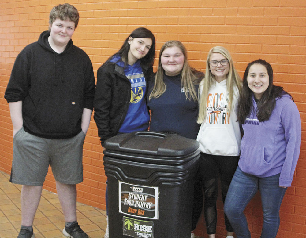 Charles City peer mentors help to feed hungry classmates