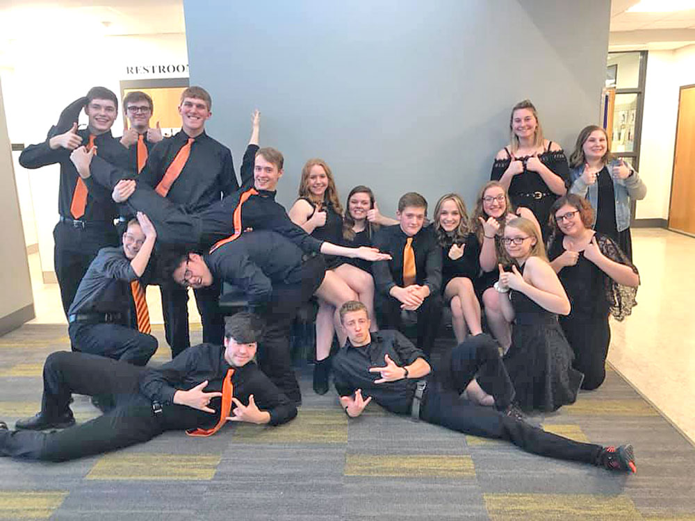CCHS vocal jazz group Rhymes with Orange again takes top rating at state festival