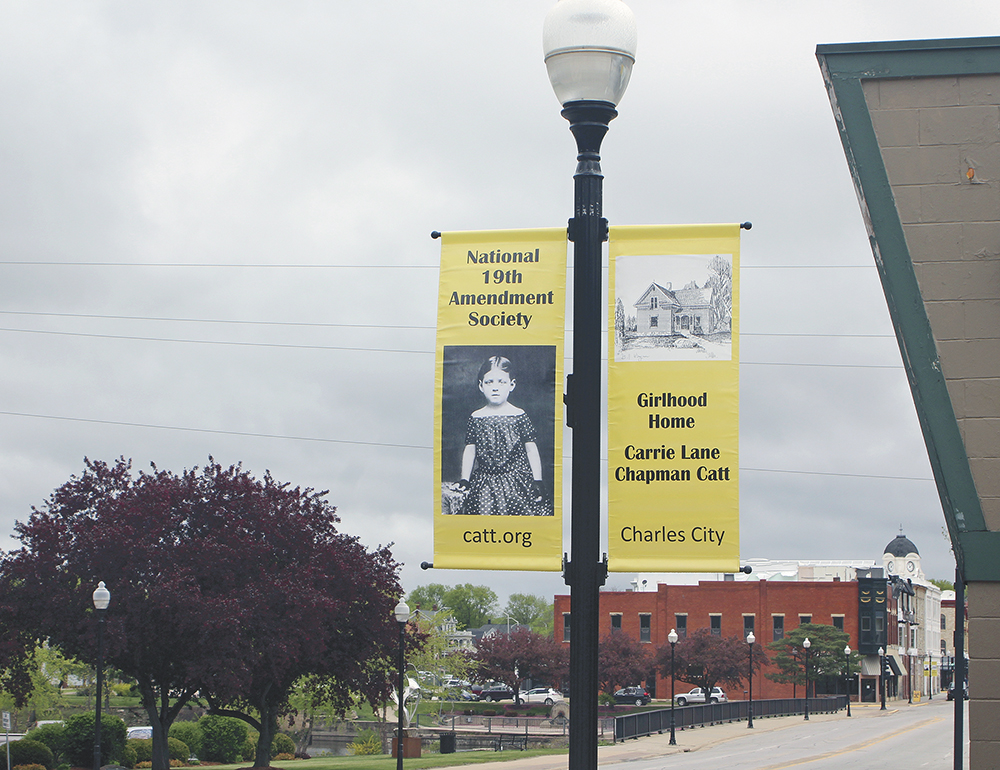 New banners celebrate 100th anniversary of women's right to vote