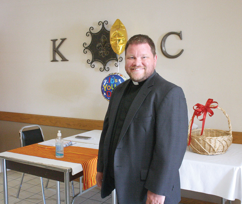 Charles City's Immaculate Conception parishioners say goodbye to Father Mayer