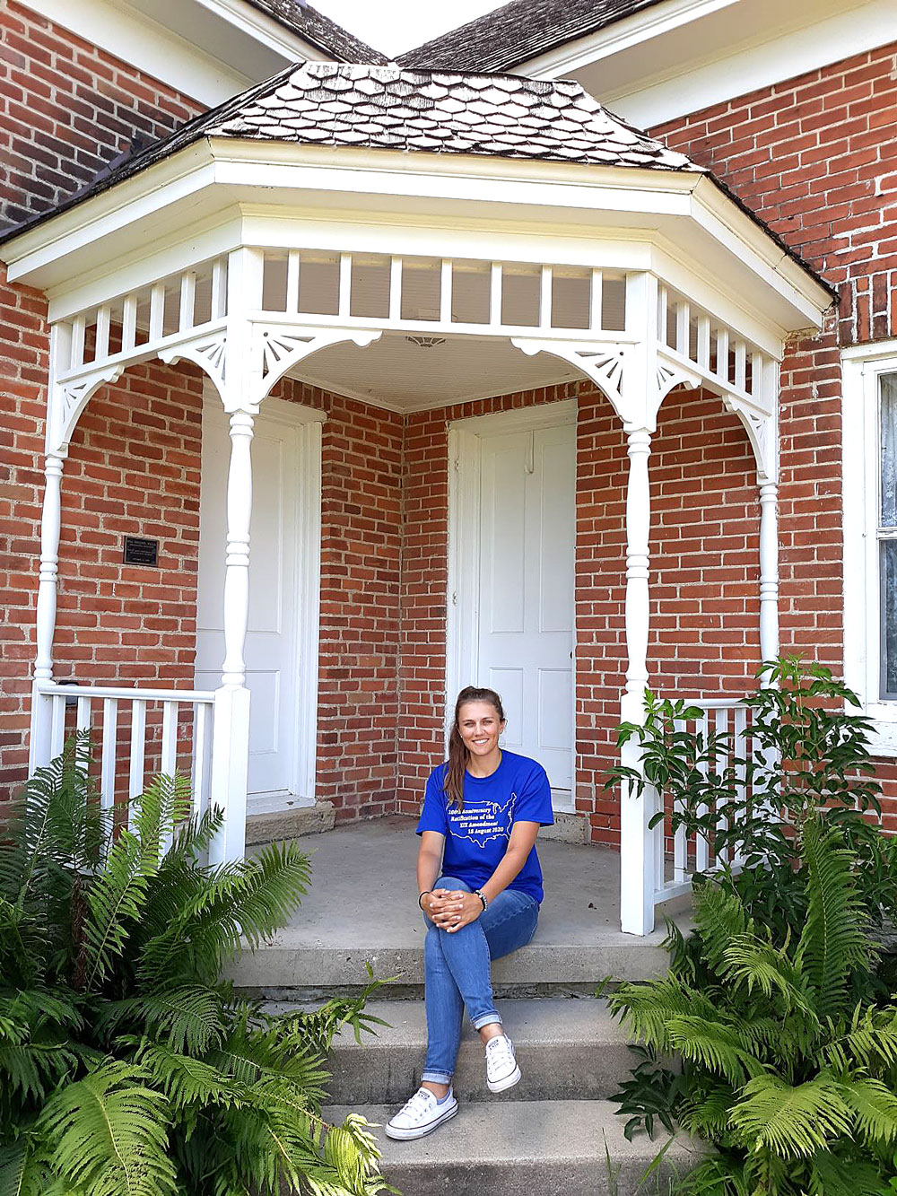Carrie Lane Chapman Catt Girlhood Home intern has summer unlike one she expected